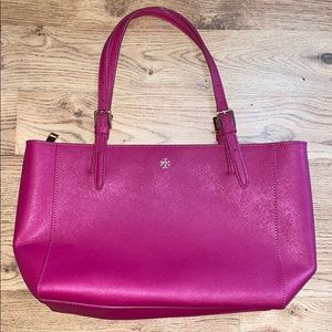 Tory Burch Large Tote Purse BRIGHT PINK Great